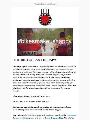 Banjo Brothers - JOIN THE #BIKESMAKEUSHAPPY PROJECT!