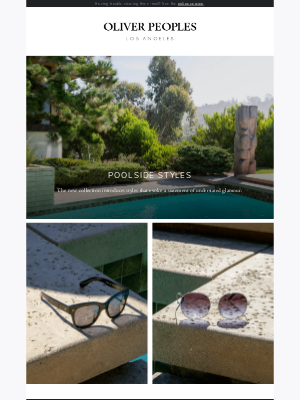 Oliver Peoples - New Resort 2021 Collection