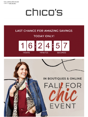 Chico's - Enjoy 40% off your purchase today