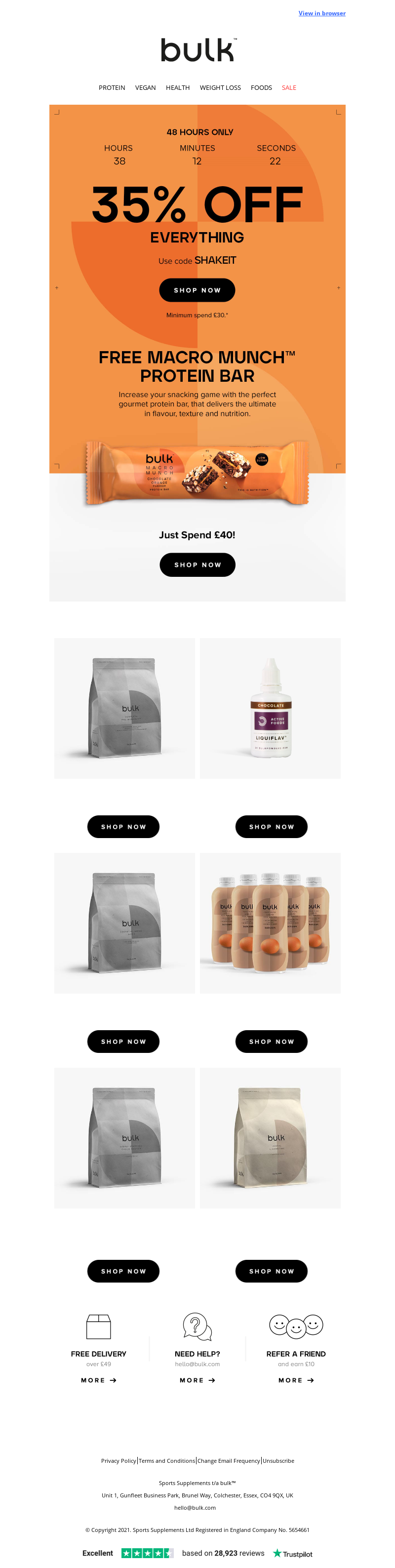 Bulk Powders (UK) - barbara, you have just 48 hours to shop this offer