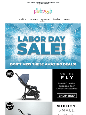 PishPoshBaby - 💥Celebrate Labor Day Weekend with these SMASHING Deals!💥