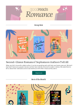 Goodreads - May Romances to Enjoy All Month Long