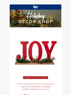 Pier 1 Imports - The Holiday Decor Shop Has Arrived 🎄