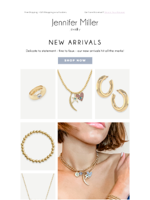 Jennifer Miller Jewelry - New Arrivals: From Fine To Faux