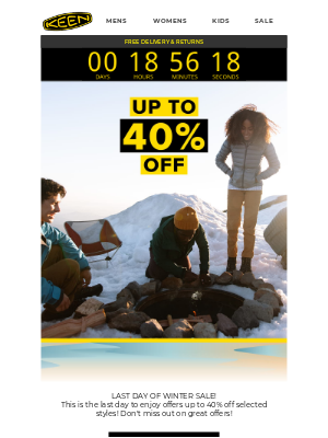 KEEN - Last Chance: Up To 40% off selected styles