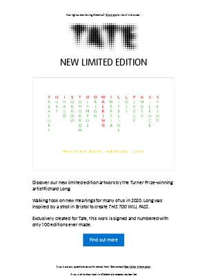 Tate (UK) - New Limited Edition: Richard Long