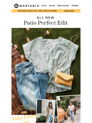 Wantable - ends today: Patio Perfect 📦