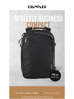 Crumpler - Introducing the Strictly Business Compact