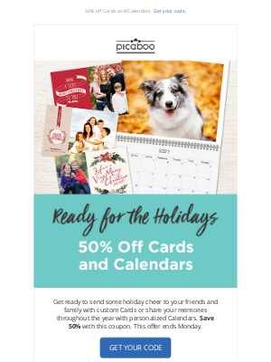 Picaboo - Cards and Calendar Savings are Here!