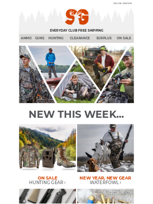 Sportsman's Guide - New & Noteworthy