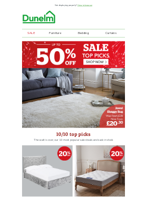 Dunelm (UK) - Limited stock! Get them before they're gone!
