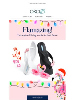 Oka-B - Meet Farrah: Our New Flamingo Style
