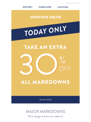 30% MORE Off Markdowns Continues