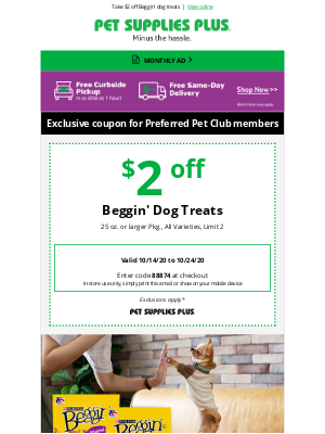Pet Supplies Plus - Your dog will go bonkers for Beggin'!