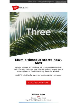 Virgin Holidays - Happy Mother's Getaway
