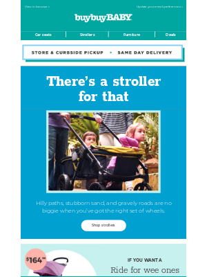 buybuy BABY - Hikes? Brunch?There'sa stroller forthat.