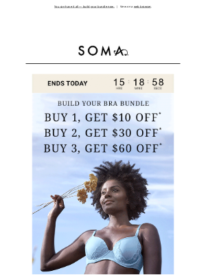 Soma Intimates - 📌 Last day for $60 off bras
