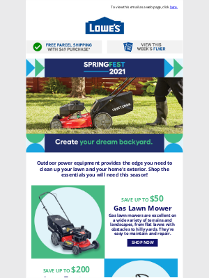 Lowes Canada - It's time to give your backyard a springtime makeover!