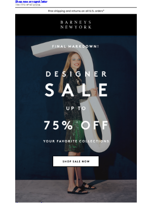 Final Markdown: Up to 75% Off Designer Collections