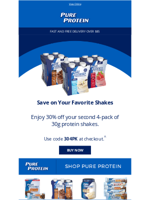 Pure Protein - 30% off Your Favorite 4-Pack!