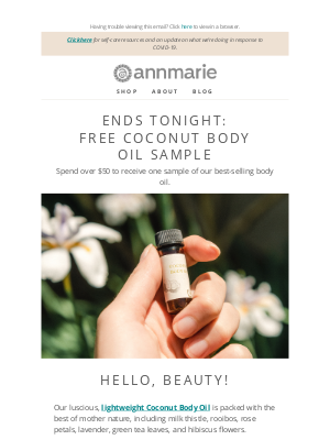 Annmarie Gianni Skin Care - Claim your gift, featuring rooibos, rose petals, and green tea