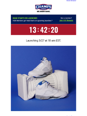 Champs Sports - The Jordan Retro 5 'Stealth' is sneaking by tomorrow! 👟👀