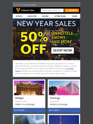 Vegas - Get Up To 50% Off Vegas Hotels & Shows