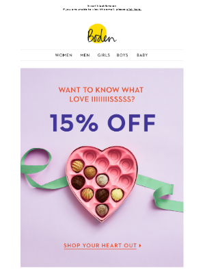A lip-smacking 15% OFF