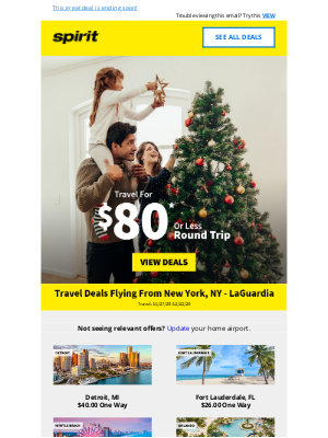 Spirit Airlines - Don't Miss Out On $80 Flights