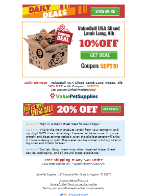 ValuePetSupplies - Daily Deals - Lamb Treats For Dogs
