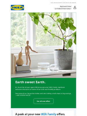 IKEA (CA) - Your new sustainable offers are here, Raymond.