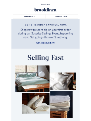 Brooklinen - Cashmere sheets are finally back but they're selling fast!