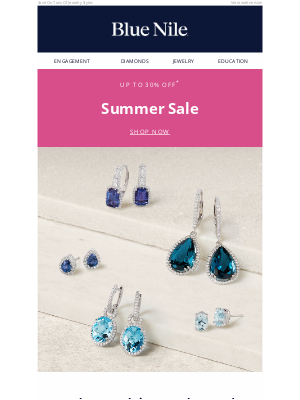 Blue Nile - Up To 30% Off Blue Summer Sapphires & More