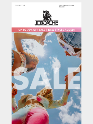 Jordache - Take your mind off things, up to 70% off sale!