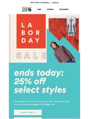 Mountain Hardwear - Ends Tonight: 25% off Labor Day Sale
