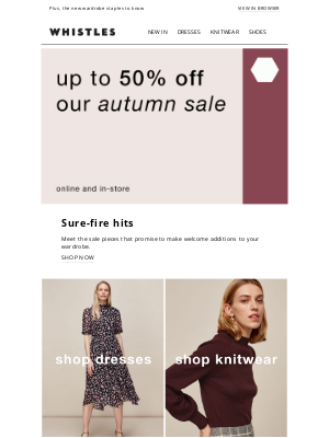 Whistles (UK) - Must-have autumn styles | Up to 50% off