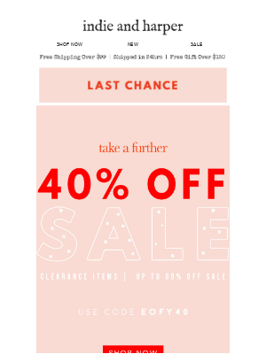 EOFY | last chance to save up to 80% off