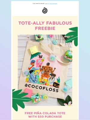 Cocofloss - 🍍 FREE piña colada tote w/purchase! 🍍