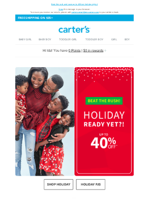 Carter's - Holiday ready yet?! 🎅