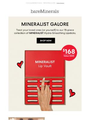 bareMinerals - Open our lipstick vault