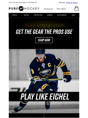 Pure Hockey - Want To Play Like Your Favorite Player? Get The Gear They Use!