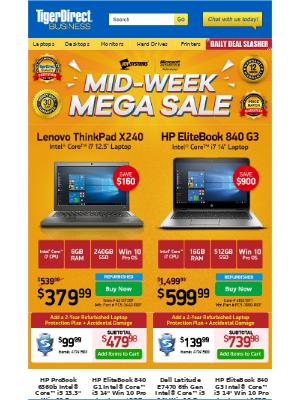 TigerDirect - Sizzling PC Deals! $379 Lenovo i7 ThinkPad