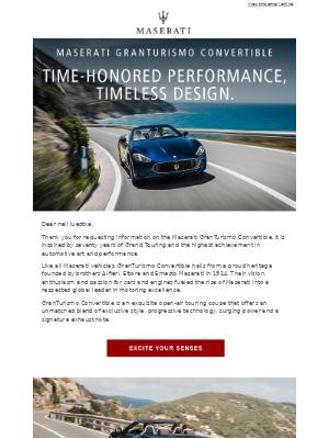 Maserati North America - Drive with power and distinction in GranTurismo Convertible.