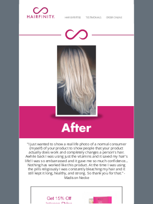 Hairfinity - Transformation Tuesday: Boost Your Confidence From the Inside, Out!