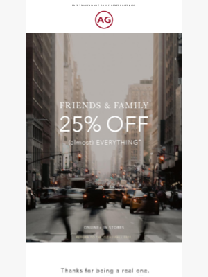 AG Jeans - FRIENDS & FAMILY ONLY