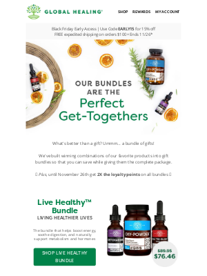 Global Healing Center - Gift bundles for her, him, and everyone 🎁