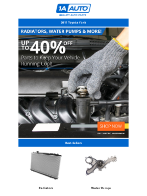 Temps Heating Up? Huge Savings on Parts to Keep Your Engine Cool!