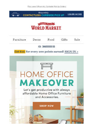 World Market - Give your home office a MAKEOVER!