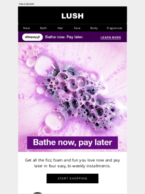 Lush North America - New: introducing payment plans