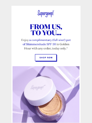 Supergoop! - Today only: Enjoy a free Shimmershade